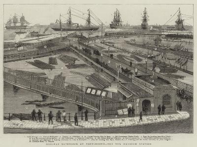 Railway Extension at Portsmouth, the New Harbour Station-William Edward Atkins-Giclee Print