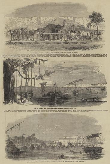 Railway from Calcutta to Delhi--Giclee Print