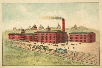 Railway Line in Front of the Factory of the Oval Churn Company--Giclee Print