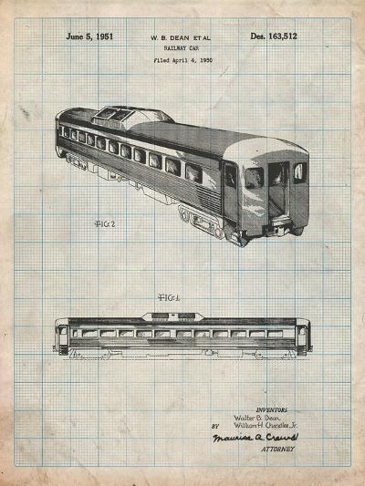 Railway Passenger Car Patent-Cole Borders-Art Print