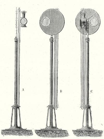 Railway Signal--Giclee Print