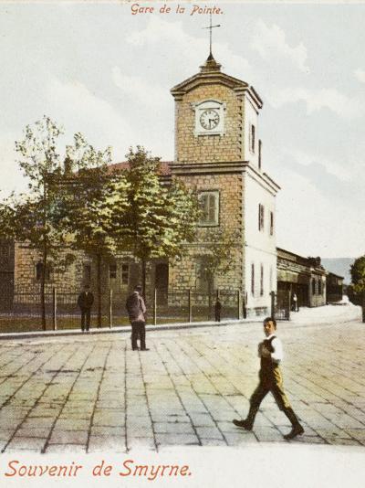Railway Station (Gare De La Pointe) at Izmir (Smyrne), Turkey--Photographic Print
