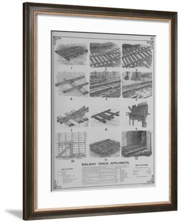 Railway Track Appliances--Framed Giclee Print