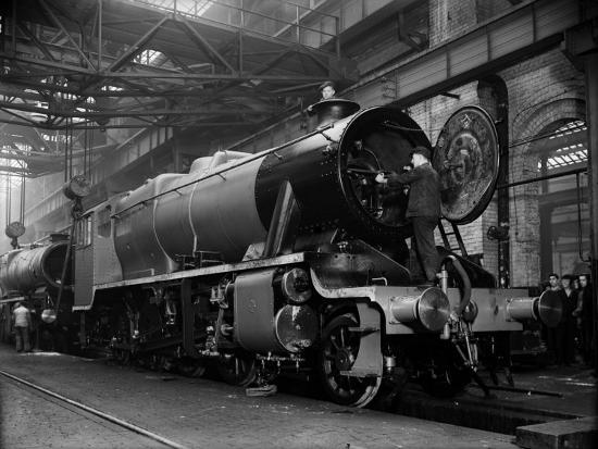 Railway Works--Photographic Print