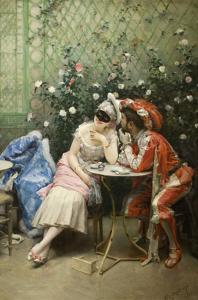 Masqueraders by Raimundo de Madrazo Y Garetta