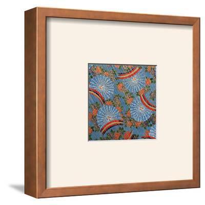 Rain and Fans I--Framed Art Print