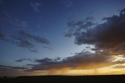 Rain and Sunset on the Maasai Mara Plains, Kenya, East Africa, Africa-Frederic Courbet-Photographic Print