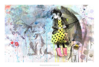 Rain Dog-Lora Zombie-Art Print