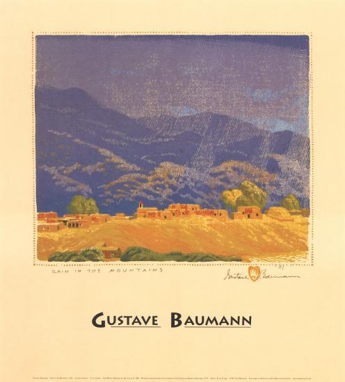 Rain in the Mountains-Gustave Baumann-Art Print