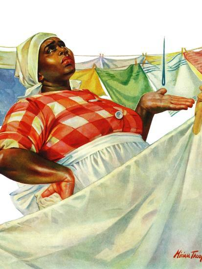 """""""Rain on Laundry Day,"""" June 15, 1940-Mariam Troop-Giclee Print"""