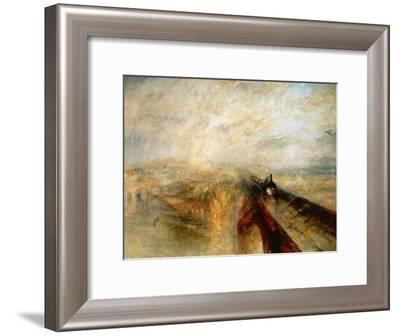 "Rain, Steam And Speed ""The Great Western Railway"" 1844-J. M. W. Turner-Framed Giclee Print"
