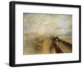 Rain, Steam, and Speed-J. M. W. Turner-Framed Giclee Print