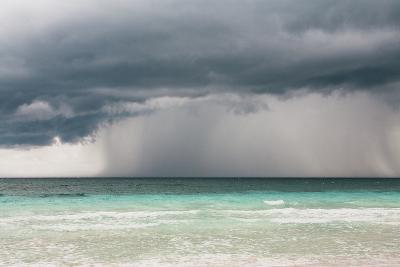 Rain Storm over the Ocean and Beach-Sasha Weleber-Photographic Print