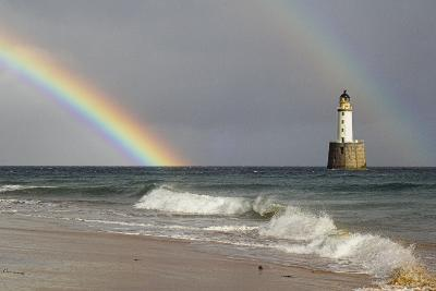 Rainbow And a Lighthouse-Duncan Shaw-Photographic Print