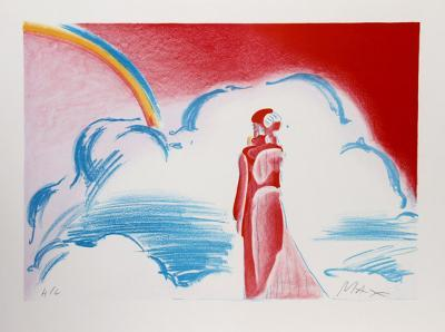 Rainbow and Clouds-Peter Max-Limited Edition