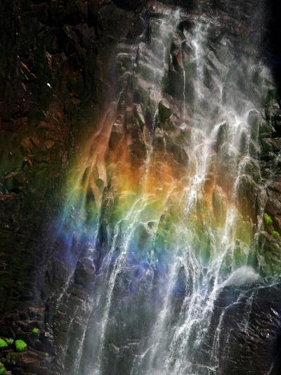 Rainbow and Water Falls--Photographic Print