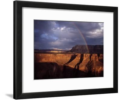 Rainbow Arches over the Grand Canyon-Michael Nichols-Framed Photographic Print