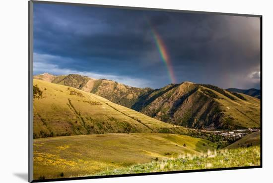 Rainbow at Sunset over Hellgate Canyon in Missoula, Montana-James White-Mounted Photographic Print