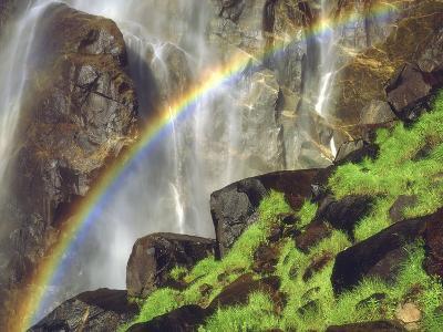Rainbow at the Base of Bridal Veil Falls, Yosemite National Park, California, USA-Christopher Talbot Frank-Photographic Print