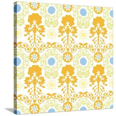 Rainbow Bee Eaters Damask--Stretched Canvas Print