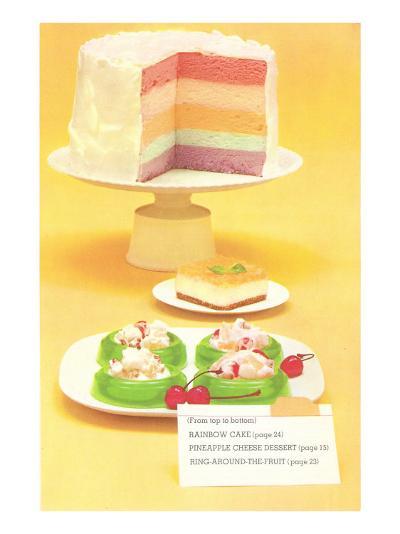 Rainbow Cake, Desserts--Art Print