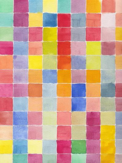 Rainbow Color Block 1-Beverly Dyer-Art Print
