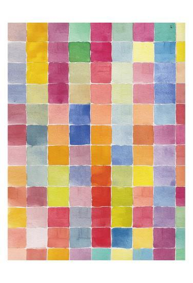 Rainbow Color Block 2-Beverly Dyer-Art Print