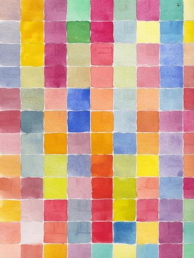 Rainbow Color Block 2-Beverly Dyer-Art Print