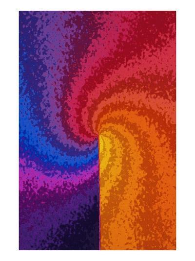 Rainbow Colored Spiral--Giclee Print