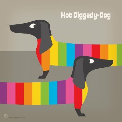 Rainbow Dogs Square-Anderson Design Group-Art Print