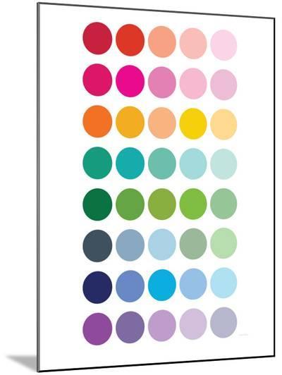 Rainbow Dots-Avalisa-Mounted Print