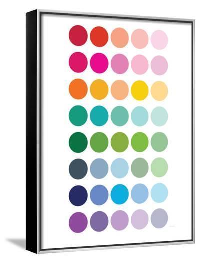 Rainbow Dots-Avalisa-Framed Canvas Print