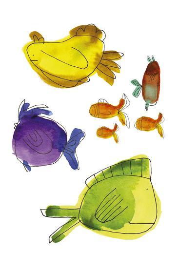 Rainbow Fish II-Callie Crosby and Rebecca Daw-Giclee Print
