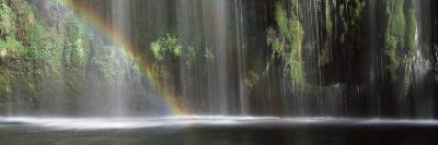 Rainbow Formed in Front of Waterfall in a Forest, Near Dunsmuir, California, USA--Photographic Print