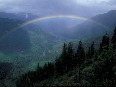 Rainbow From Going to the Sun Road, Glacier National Park, Montana, USA-Jamie & Judy Wild-Photographic Print