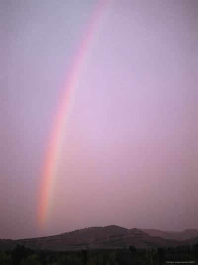 Rainbow Glows at Sunset-Stephen Alvarez-Photographic Print