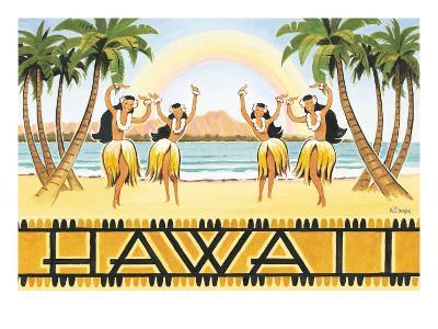 Rainbow Hawaii-Kerne Erickson-Giclee Print