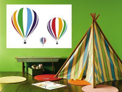 Rainbow Hot Air Balloons-Avalisa-Wall Mural