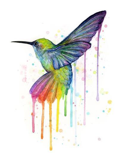 Rainbow Hummingbird-Olga Shvartsur-Art Print