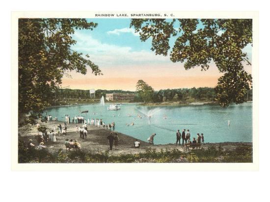 Rainbow Lake, Spartanburg, South Carolina--Art Print