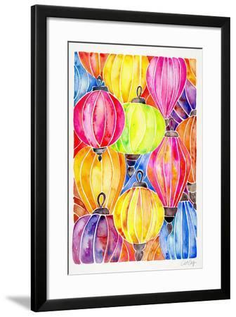 Rainbow Lanterns-Cat Coquillette-Framed Giclee Print