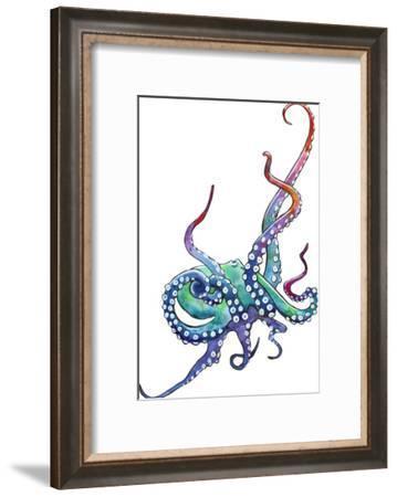 Rainbow Octopus-Sam Nagel-Framed Art Print
