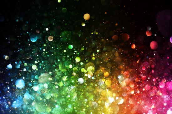 Rainbow Of Lights-SSilver-Premium Giclee Print