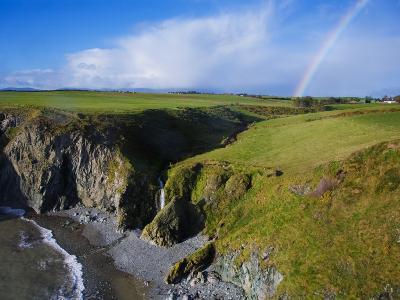 Rainbow over Ballydowane, the Copper Coast, County Waterford, Ireland--Photographic Print