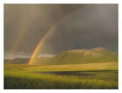 Rainbow over Boulder Mountains, Idaho-Tim Fitzharris-Art Print