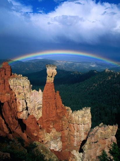 Rainbow Over Bryce Canyon, Bryce Canyon National Park, USA-Kevin Levesque-Photographic Print