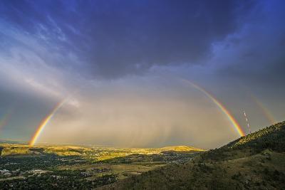 Rainbow over Denver-duallogic-Photographic Print
