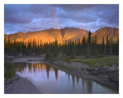 Rainbow over Fairholme Range and Exshaw Creek, Alberta, Canada-Tim Fitzharris-Art Print