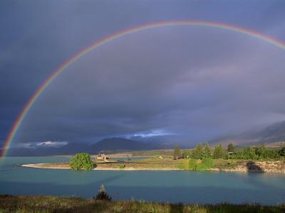 Rainbow over Lake Tekapo, Canterbury, South Island, New Zealand, Pacific-Jeremy Bright-Photographic Print