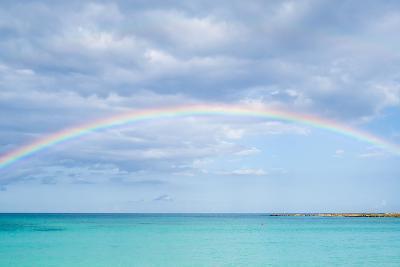 Rainbow over Ocean-bradcalkins-Photographic Print